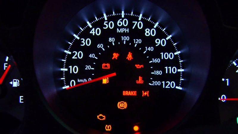 اتکس چراغهای هشدار دهنده پشت آمپر خودرو