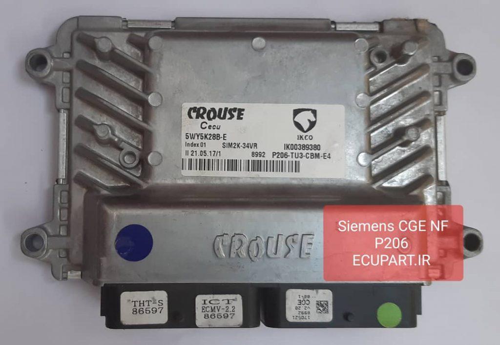 ایسیو زیمنس شبکه دار CGE برای پژو 206 موتور TU3