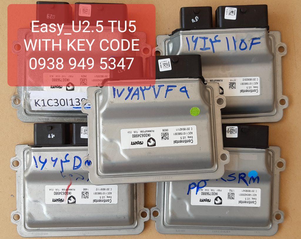 ایسیو ایزی یو 2.5 یا easy u2.5پژو 206 و 207 و رانا با کد کلید