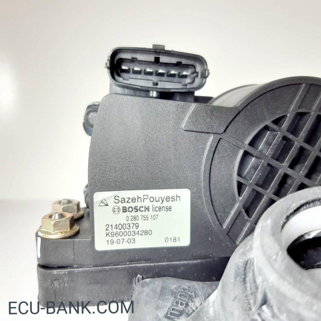 تصویر سنسور زاویه پدال گاز در خودروی سمند و دنا