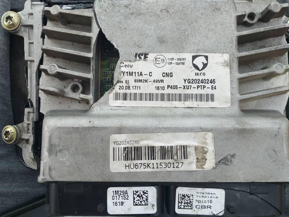 شکستگی ایسیو زیمنس CBR یک خودرو پژو ۴۰۵ دوگانه سوز در اثر تصادف